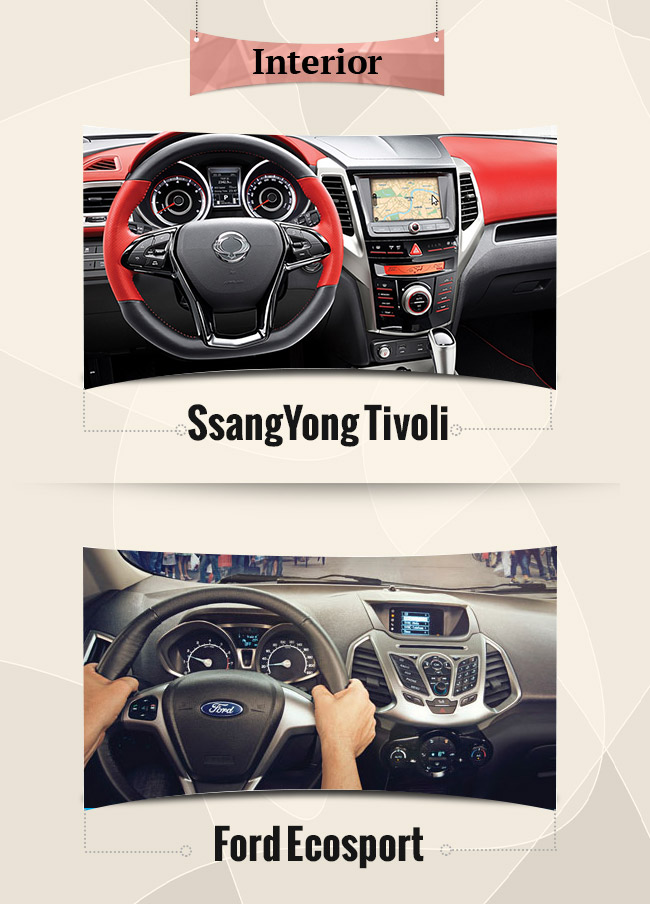 interior ecosport vs tivoli