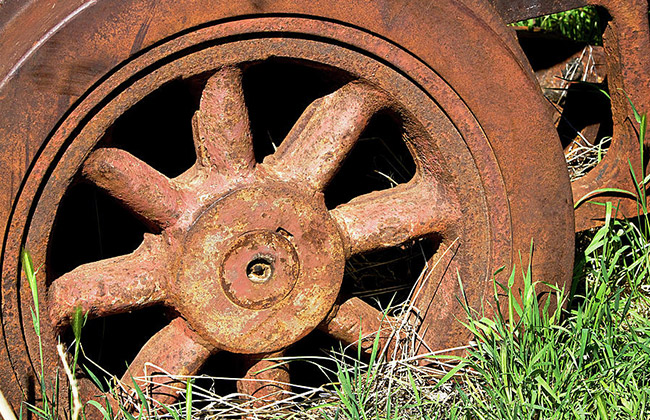 rested steel wheel