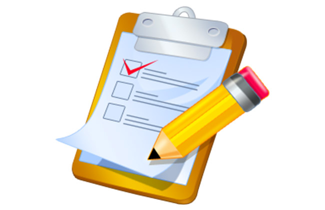 check list the required features