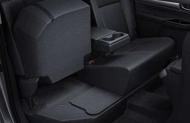 Rear side folding seats in pickup