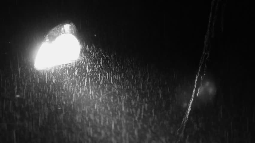 headlight on driving in rain
