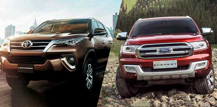 Everest vs Fortuner Design