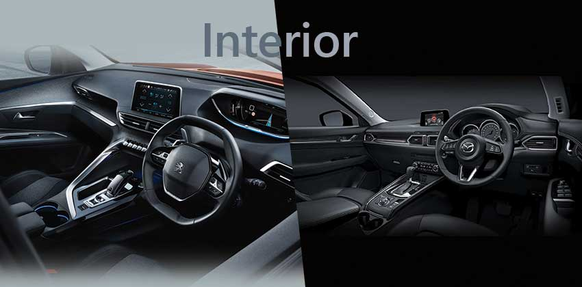 Peugeot 3008 vs Mazda CX-5 - interior