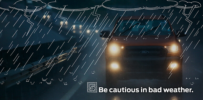 Driving Tip - Be cautious in bad weather condition
