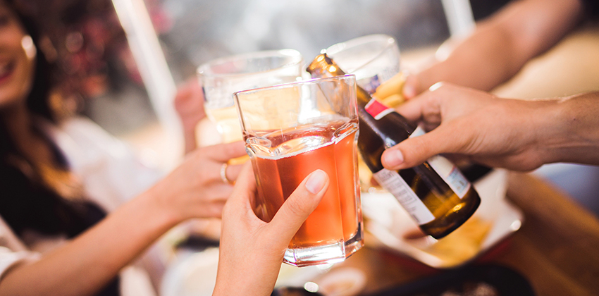 Alcohol with friends