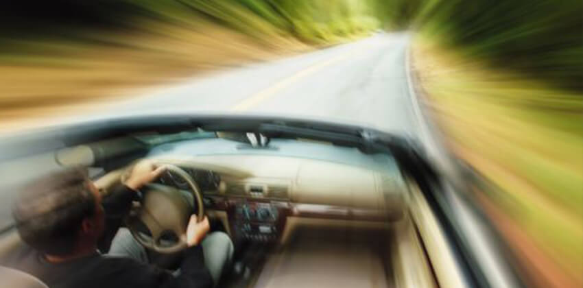 driving to fast