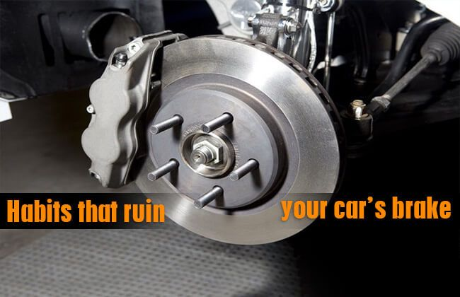 Eight habits that are destroying your car brakes