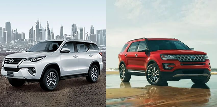 Toyota Fortuner vs Ford Explorer - Looks