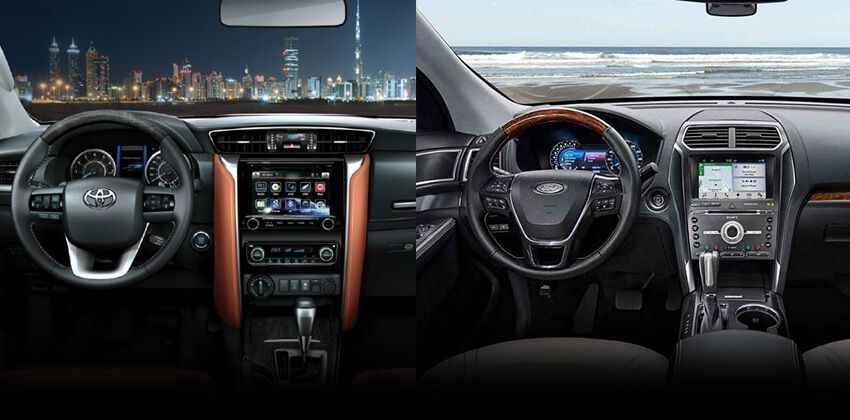 Toyota Fortuner vs Ford Explorer - Interior