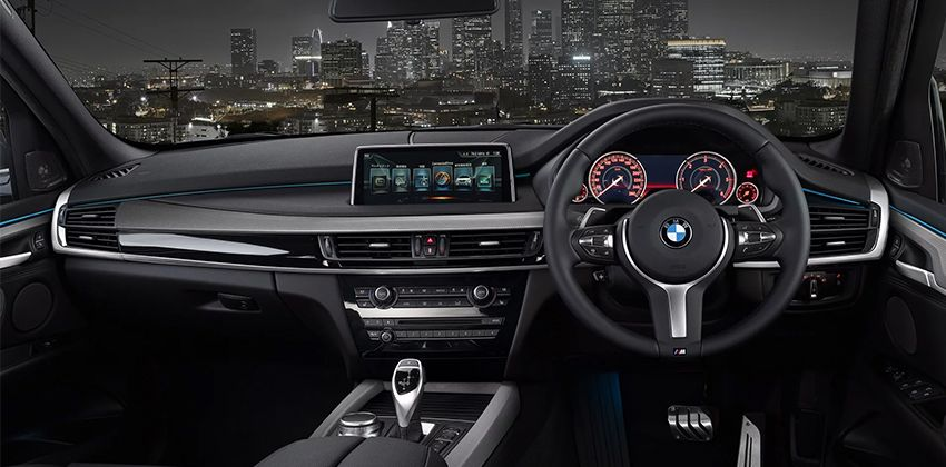 BMW X5 Limited Black and White Cabin